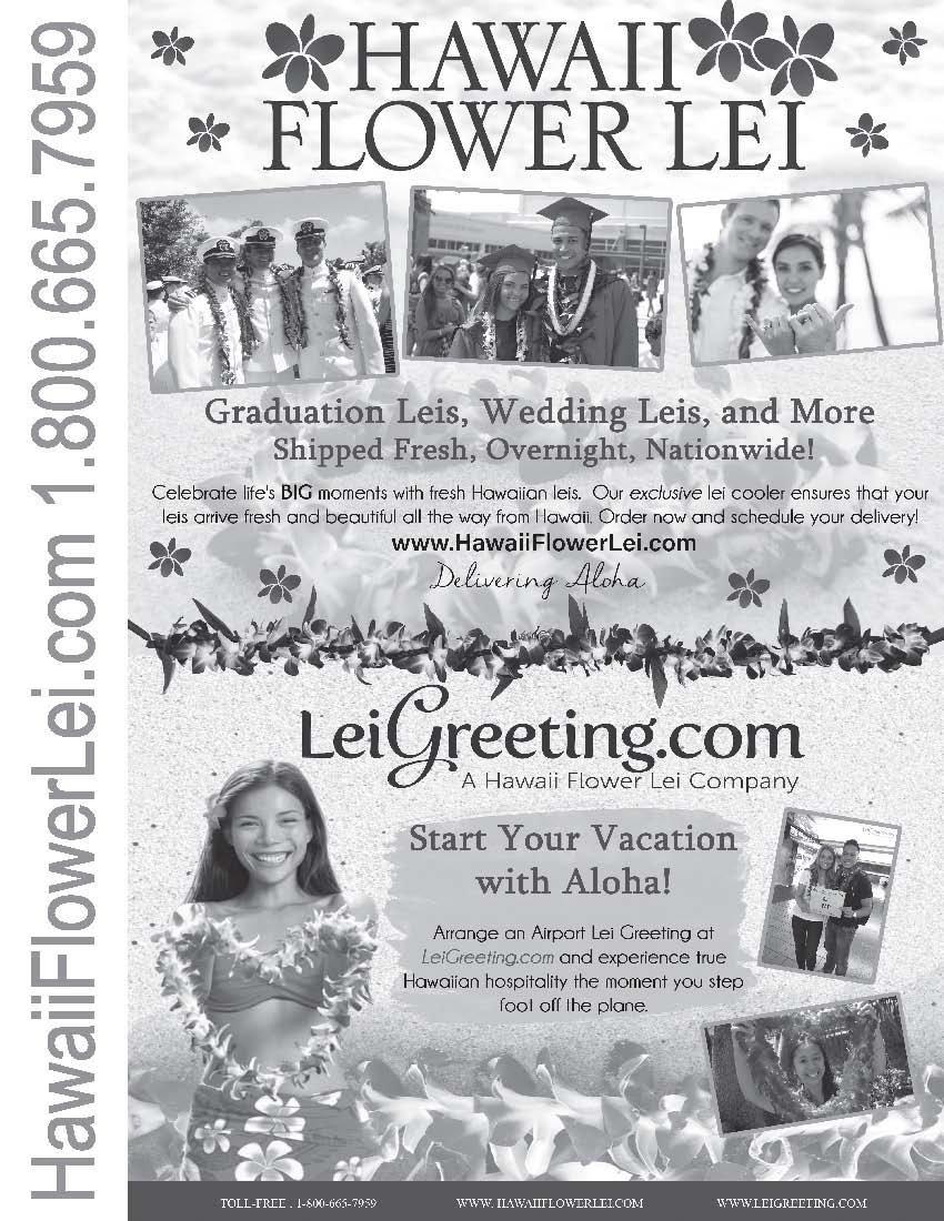 Hawaii Flower Lei ad